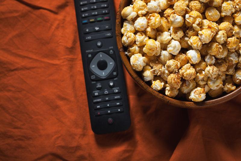 popcorn a ovládač