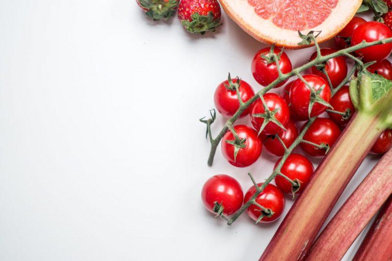 paradajky a rebarbora