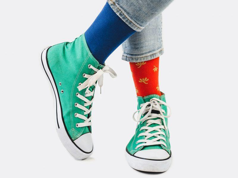 farebné zaujímavé ponožky