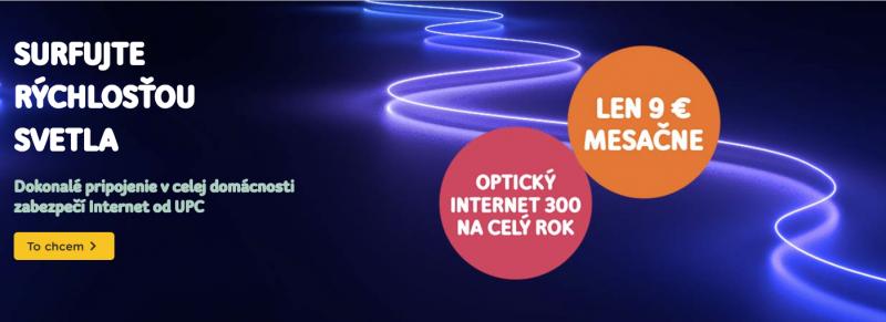 upc internet surfujte rýchlosťou svetla