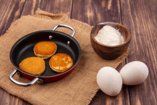 lievance v panvici a vajíčka
