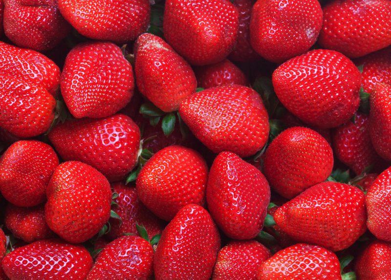 Červené jahody.